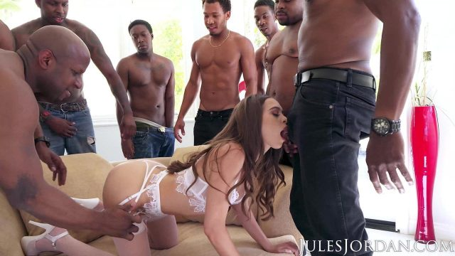 Riley Reid 4K Interracial gangbang