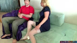 Amateur step-mom and step-son both holes fuck